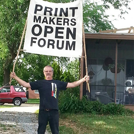 Printmakers Open Forum signage